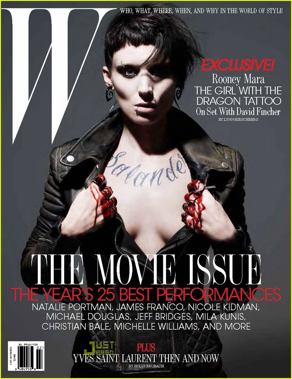 Rooney Mara W Magazine Cover Photos February 2011: DRAGON