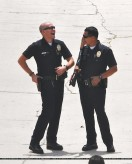 Jake Gyllenhaal, Michael Pena, End of Watch, Los Angeles Set Photo, 03