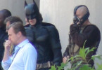 Christopher Nolan, Tom Hardy, Christian Bale, The Dark Knight Rises, Mellon Institute Set, 02