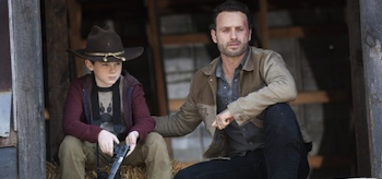 Andrew Lincoln, Chandler Riggs, The Walker Dead