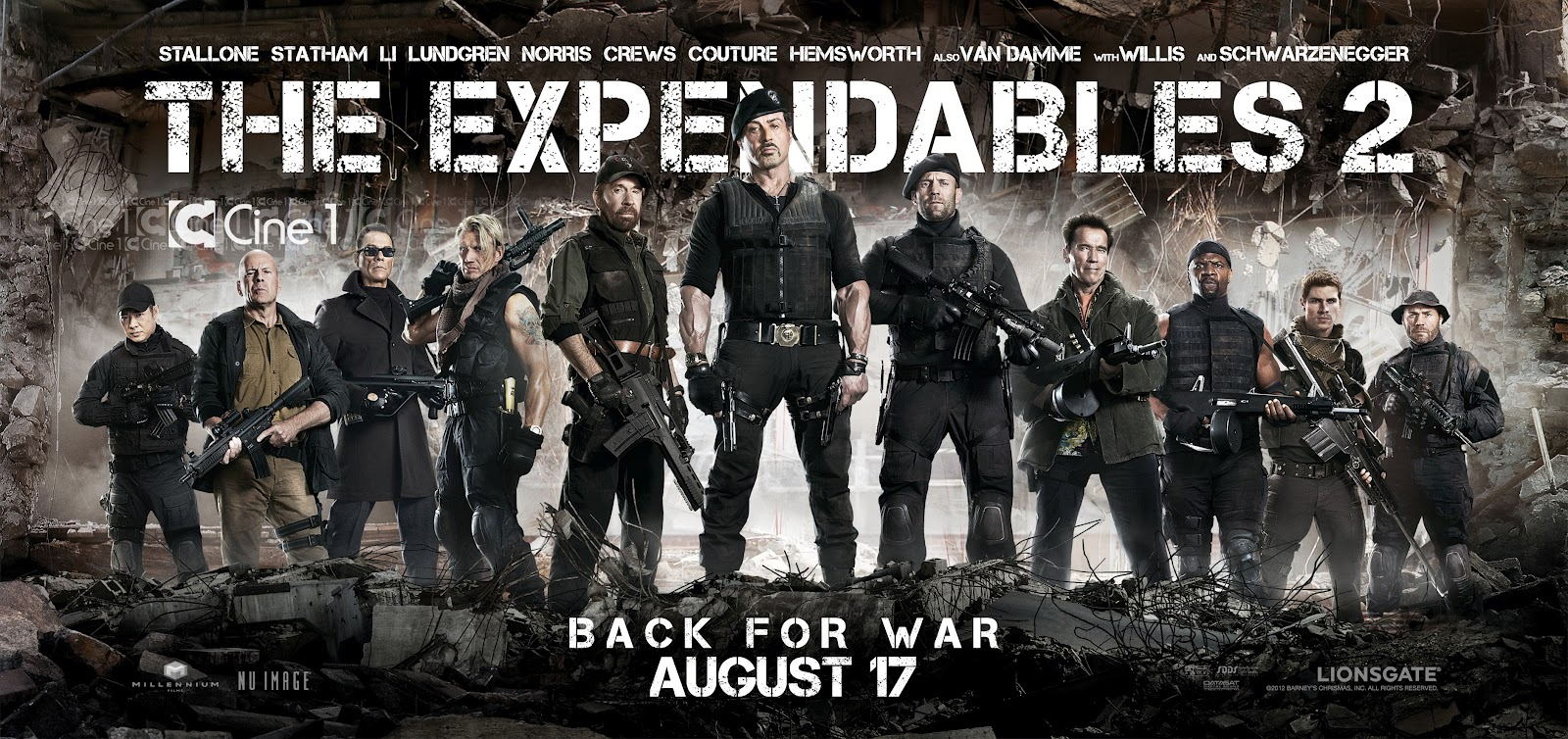 THE EXPENDABLES 2 (2012) Movie Poster: Sylvester Stallone ...