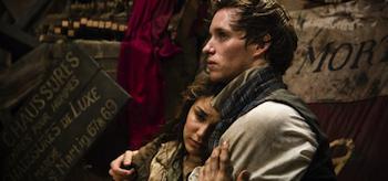 Samantha Barks Eddie Redmayne Les Miserables