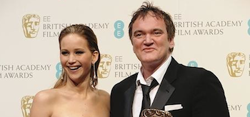 Quentin Tarantino Jennifer Lawrence British Academy Film Awards 2013