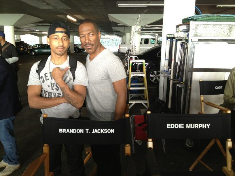 Eddie Murphy Brandon T Jackson Beverly Hills Cop