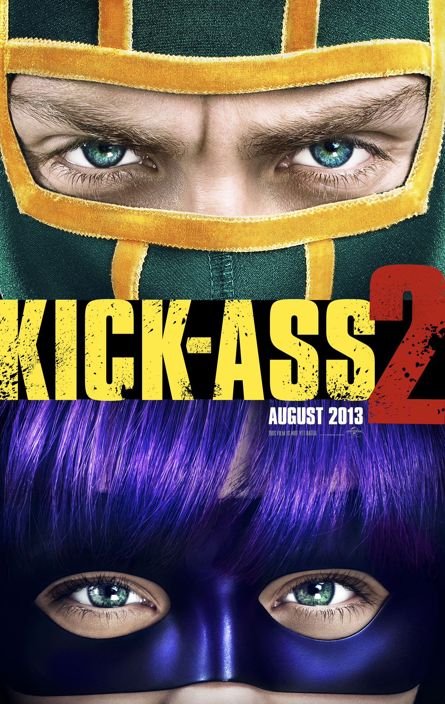 KICK-ASS 2 (2013) Movie Poster & 6 Character Movie Posters