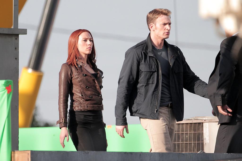 Scarlett johansson amp chris evans captain america the winter soldier