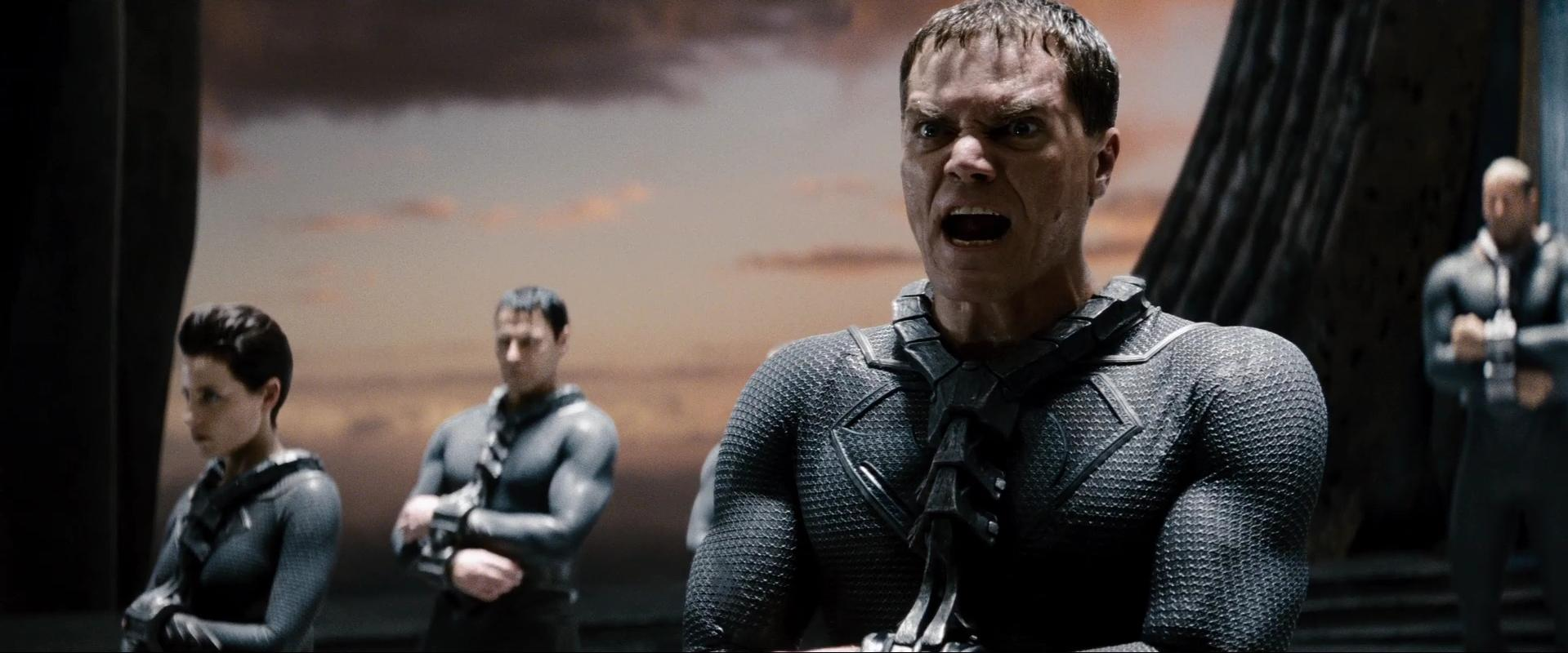 Michael Shannon Antje Traue Man of Steel