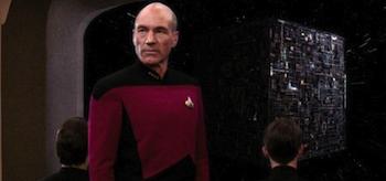 Patrick Stewart Star Trek The Next Generation The Best of Both Worlds