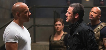 Gina Carano Luke Evans Vin Diesel Dwayne Johnson Fast and Furious 6