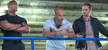 Paul Walker Vin Diesel Dwayne Johnson Fast and Furious 6
