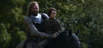 Rory McCann Maisie Williams GAme of Thrones Second Sons