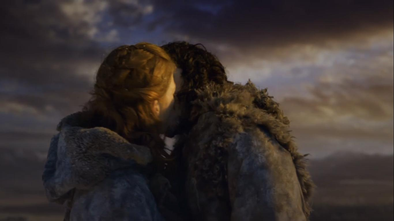 Rose Leslie Kit Harington Kissing Game of Thrones The Climb