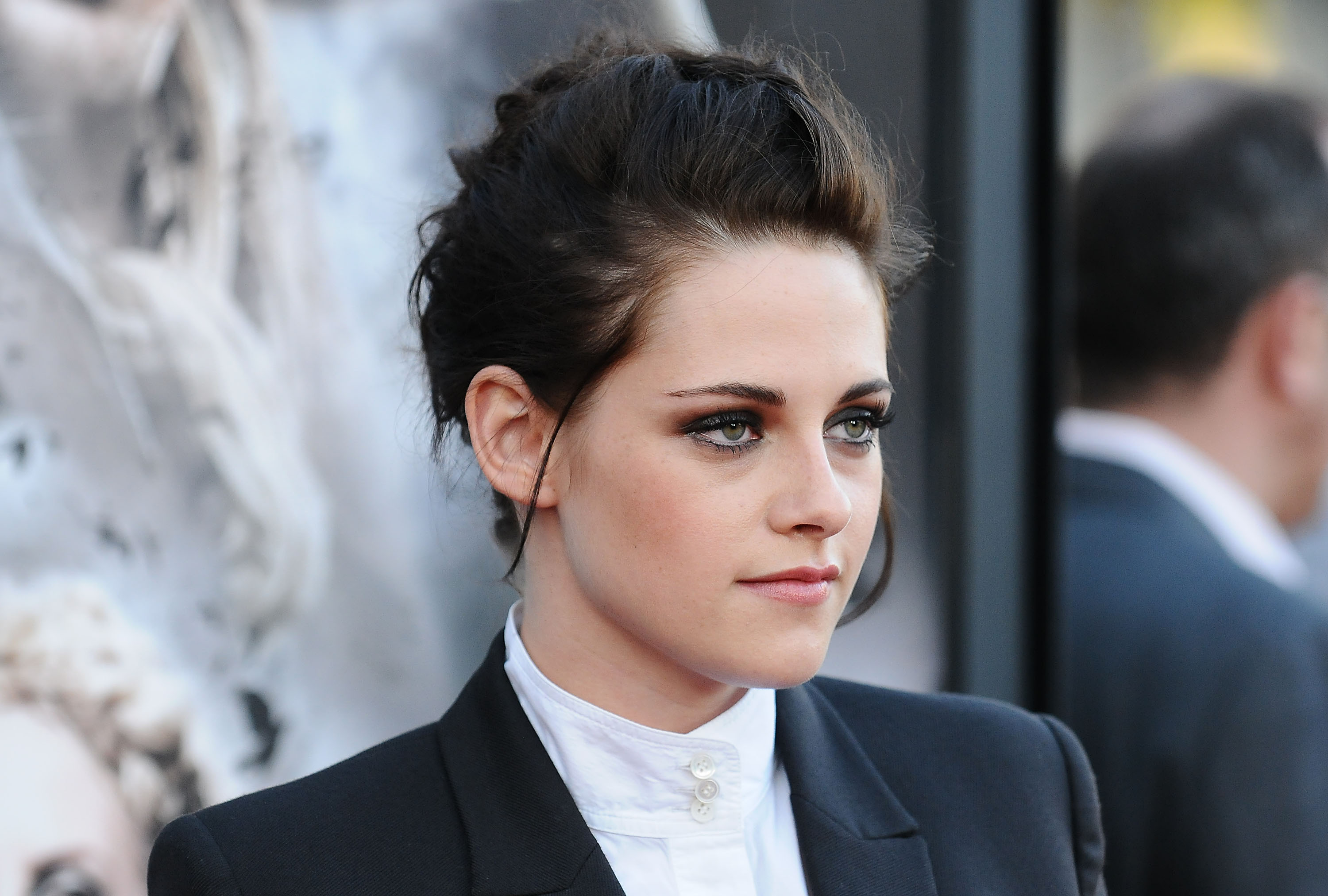 Kristen Stewart Hair up Suit