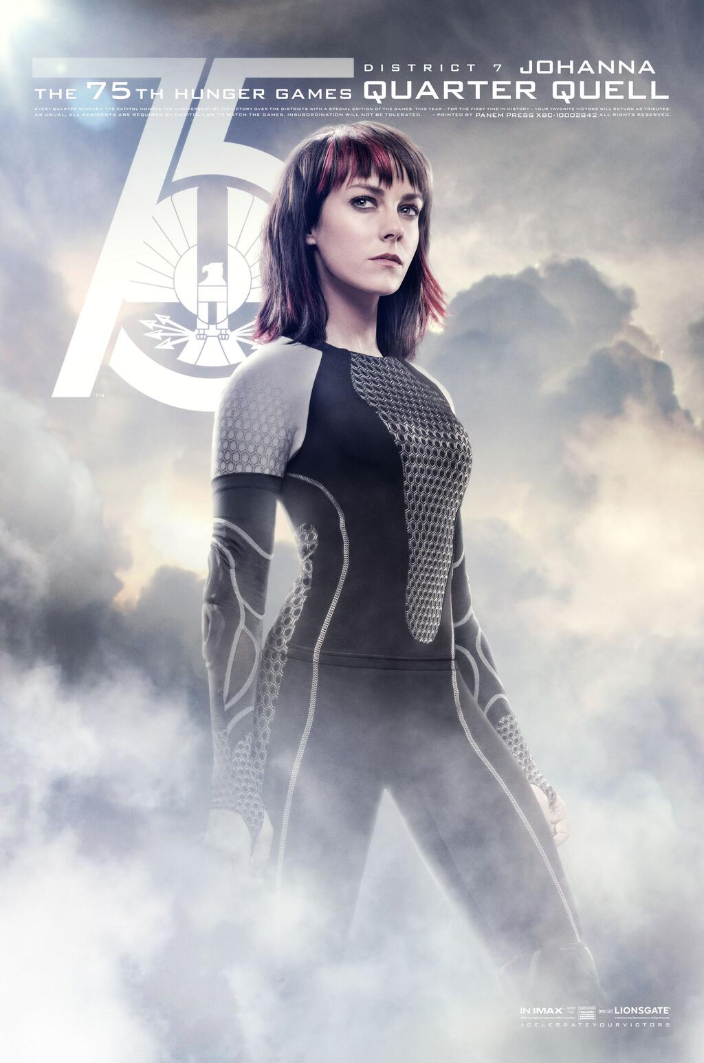 Jena Malone 75th Hunger Games Quarter Quell District 2 Johanna movie poster
