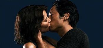 Lauren Cohan Steven Yeun Kiss The Walking Dead Season 4