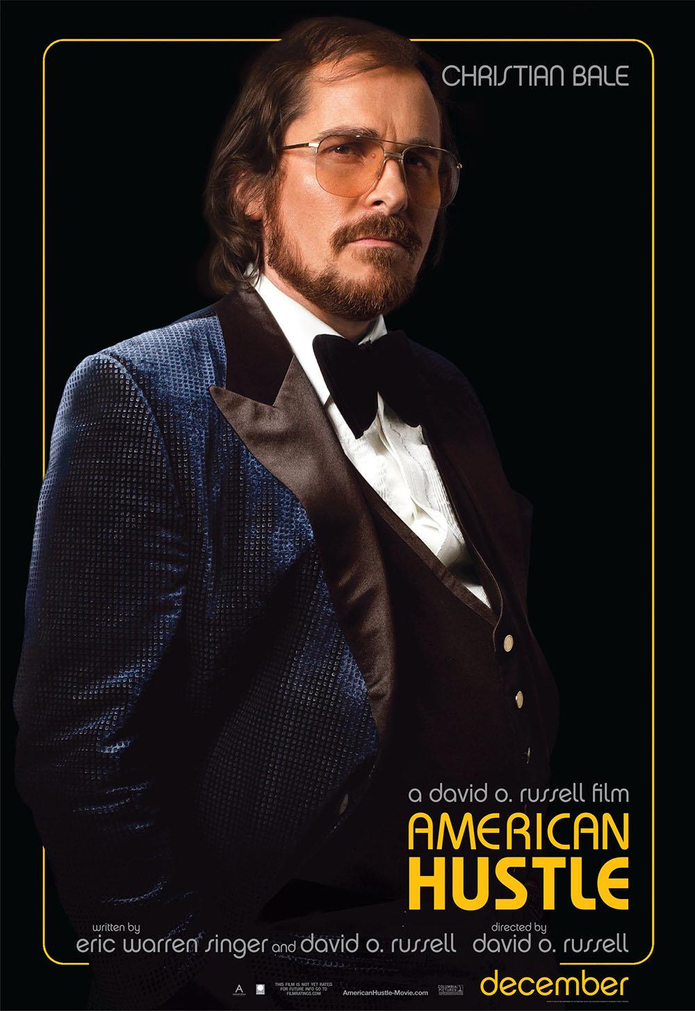 Christian Bale American Hustle movie poster