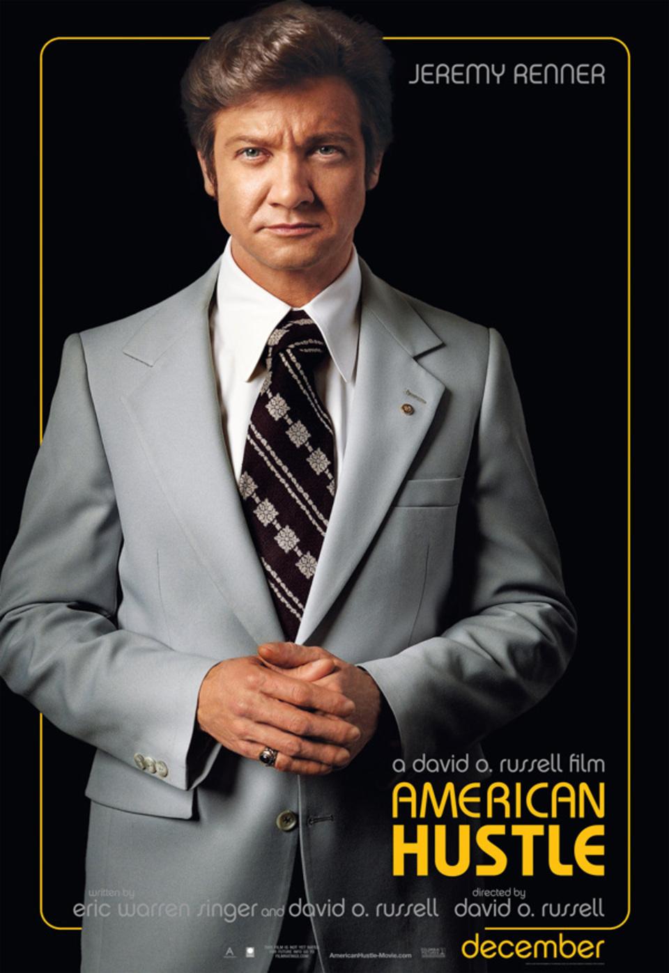 Jeremy Renner American Hustle movie poster