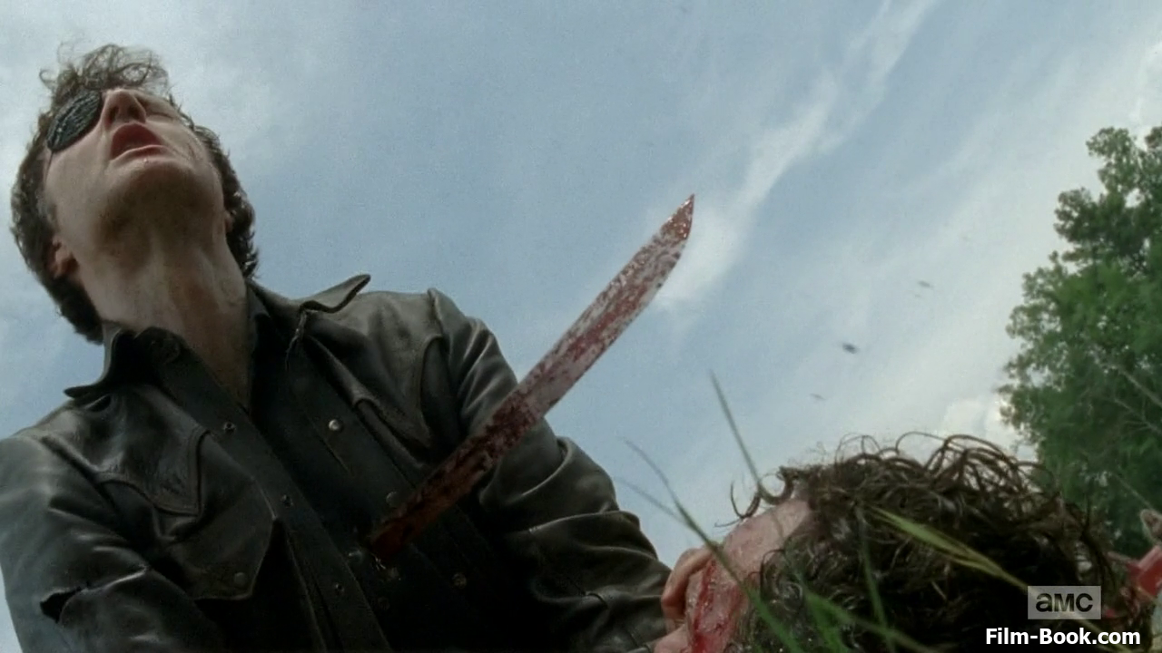 David Morrissey Sword Through Chest The Walking Dead Too Far Gone