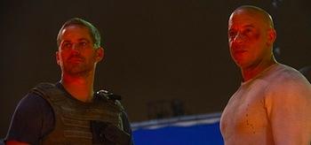 Paul Walker Vin Diesel Fast and Furious 7 Set