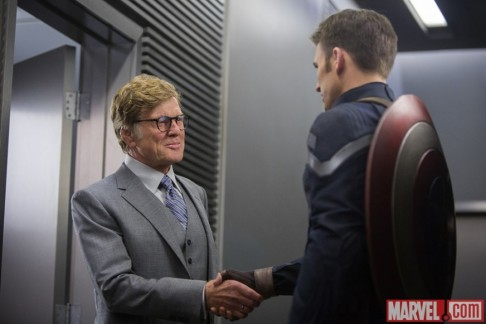 Robert Redford Chris Evans Captain America: The Winter Soldier