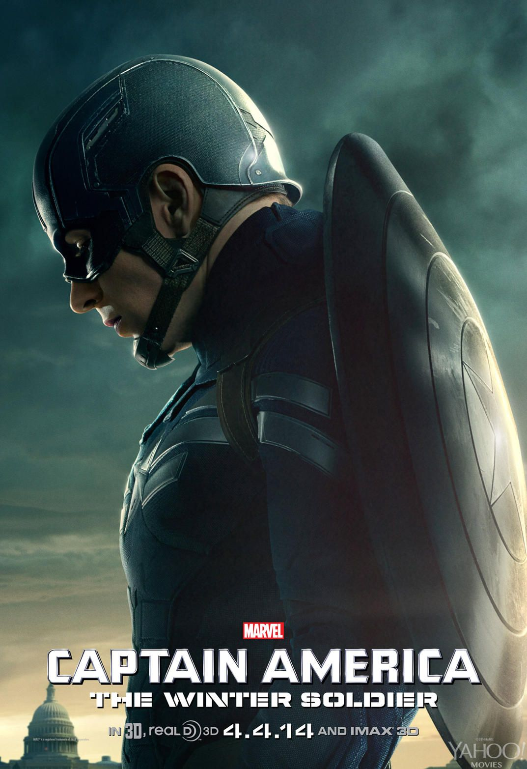 Chris Evans Captain America The Winter Soldier movie poster