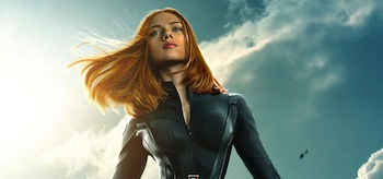 Scarlett Johansson Captain America The Winter Soldier movie poster