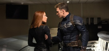 Scarlett Johannsson Chris Evans Captain America The Winter Soldier