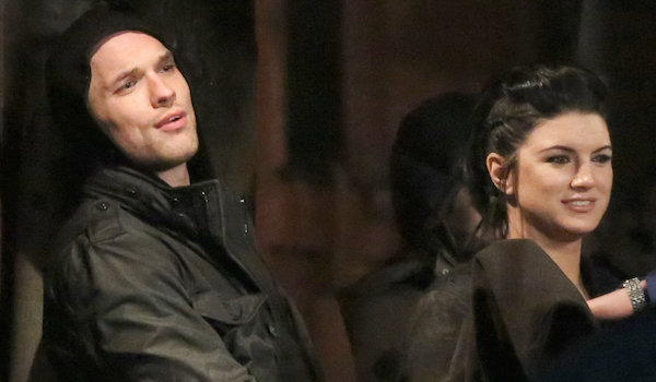 Ed Skrein Gina Carano Deadpool Set