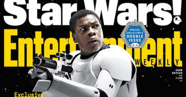 John Boyega Star Wars The Force Awakens Entertainment Weekly cover November 2015