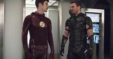 Grant Gustin Stephen Amell The Flash Legends of Today