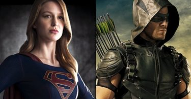 Melissa Benoist Stephen Amell Supergirl Arrow