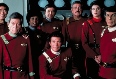 George Takei DeForest Kelley Nichelle Nichols Walter Koenig William Shatner James Doohan Kim Cattrall Leonard Nimoy Star Trek II The Wrath Of Khan