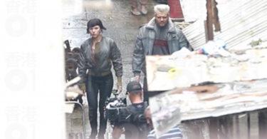Scarlett Johansson Pilou Asbæk Ghost in the Shell Set