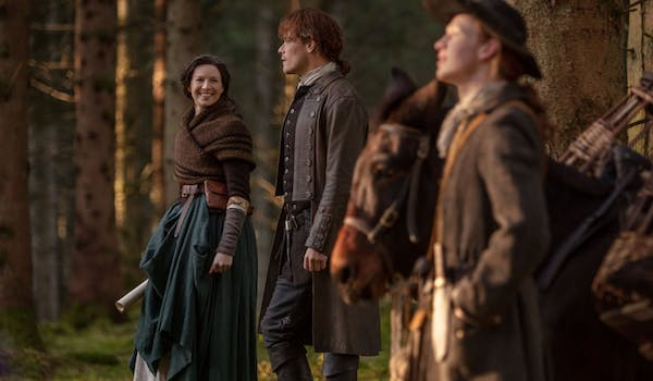 Sam Heughan Caitriona Balfe John Bell Outlander Common Ground