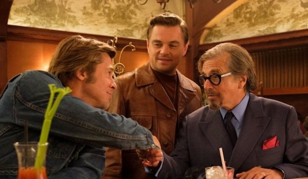 Brad Pitt Leonardo DiCaprio Al Pacino Once Upon a Time in Hollywood